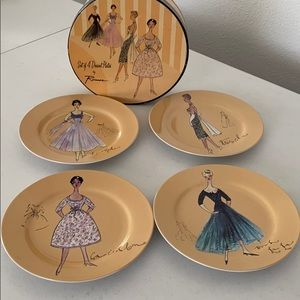 SET OF FOUR DESSERT PLATES BY ROSANNA